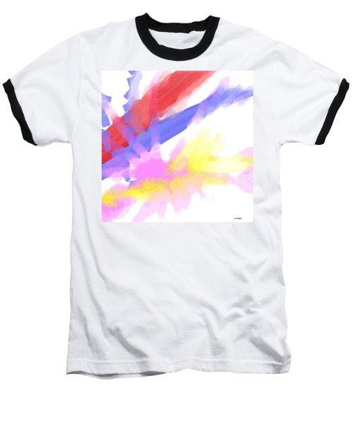 American Sunrise Baseball T-Shirt by George Pedro