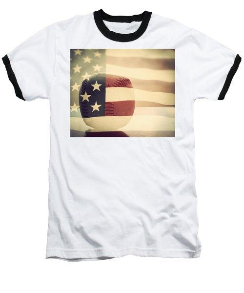 Americana Baseball  Baseball T-Shirt by Terry DeLuco