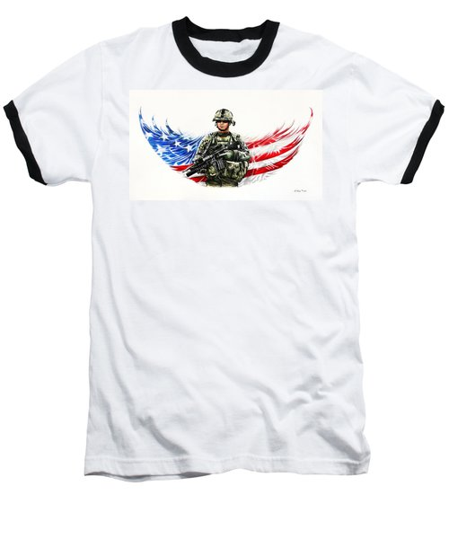 Americas Guardian Angel Baseball T-Shirt