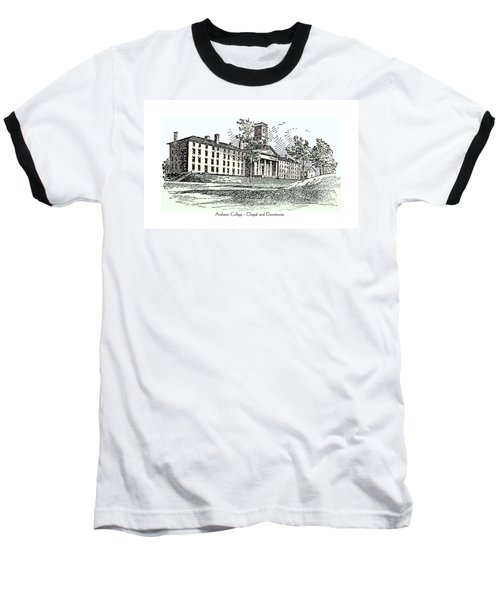Amherst College - Chapel And Dormitories Baseball T-Shirt