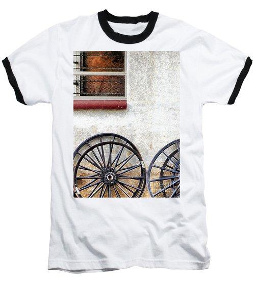 Amish Buggy Wheels Baseball T-Shirt