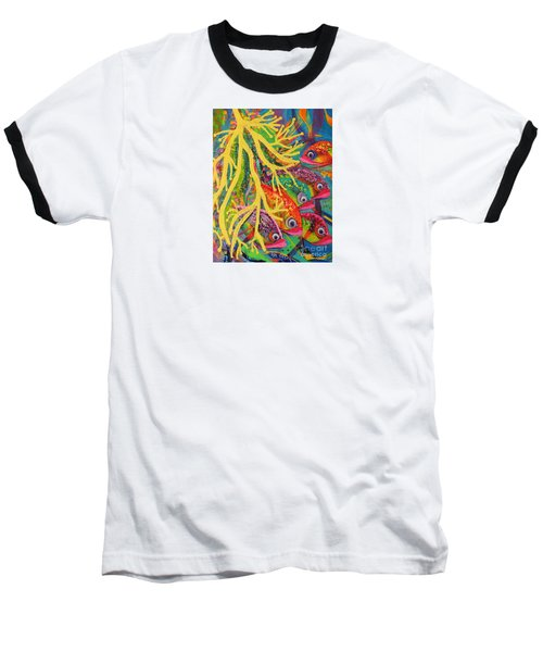 Amongst The Coral Baseball T-Shirt by Lyn Olsen