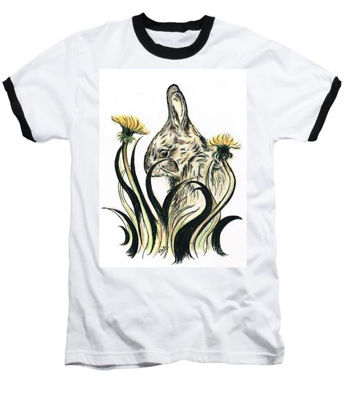 Rabbit- Amongst The Dandelions Baseball T-Shirt