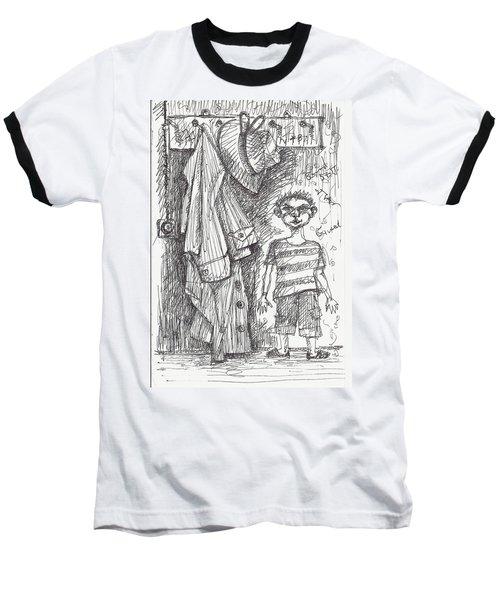 An Apartment Goblin Baseball T-Shirt by Maxim Komissarchik