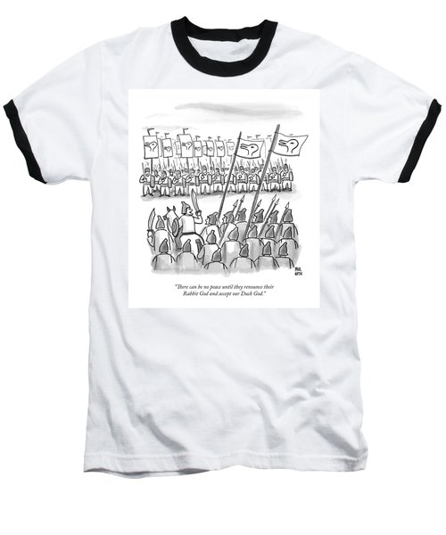 An Army Lines Up For Battle Baseball T-Shirt