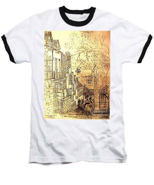 An English Fishing Village Baseball T-Shirt