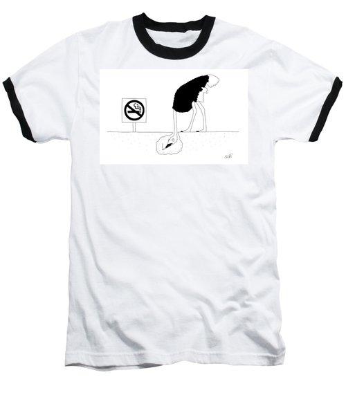 An Ostrich With Its Head Buried Baseball T-Shirt