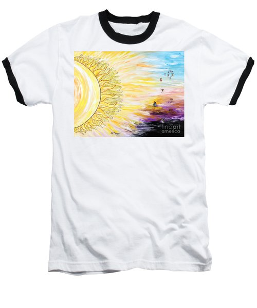 Anche Per Te Sorgera' Il Sole Baseball T-Shirt by Loredana Messina