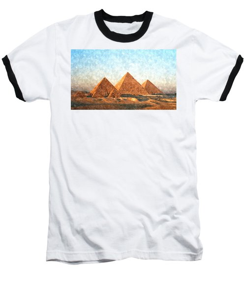 Ancient Egypt The Pyramids At Giza Baseball T-Shirt