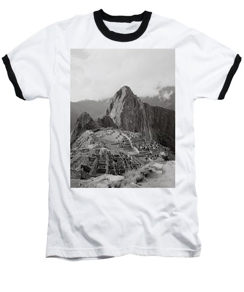 Ancient Machu Picchu Baseball T-Shirt by Shaun Higson