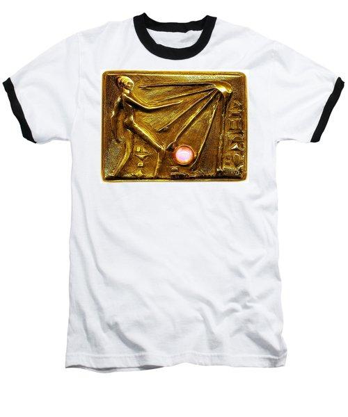 Baseball T-Shirt featuring the relief Sun God Worship  by Hartmut Jager