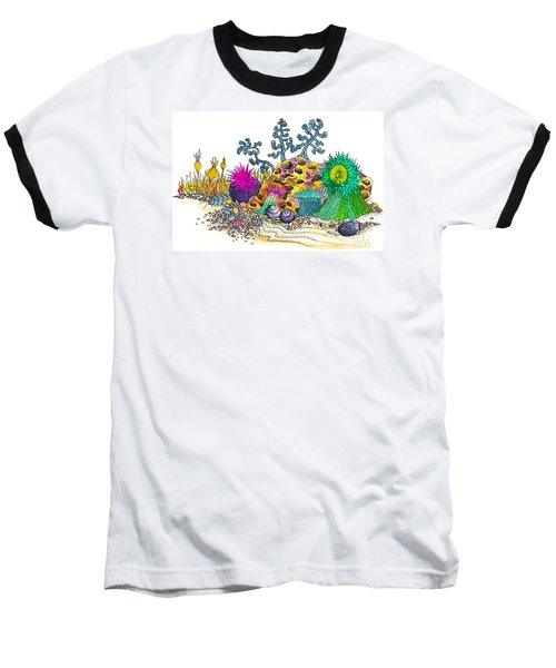 Baseball T-Shirt featuring the photograph Anemone Garden by Adria Trail