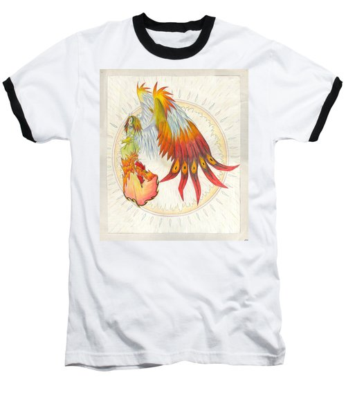 Angel Phoenix Baseball T-Shirt by Shawn Dall