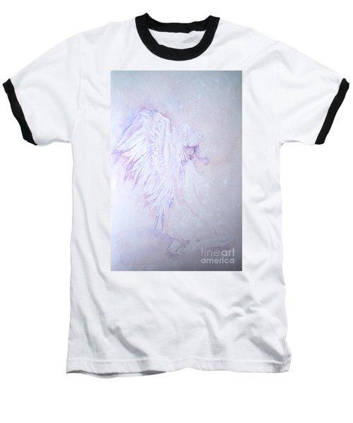 Baseball T-Shirt featuring the painting Angel by Sandra Phryce-Jones