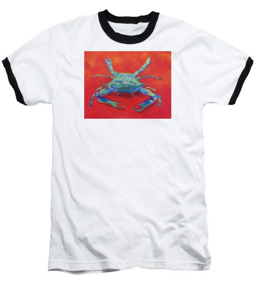 Another Red Crab Baseball T-Shirt by Anne Marie Brown