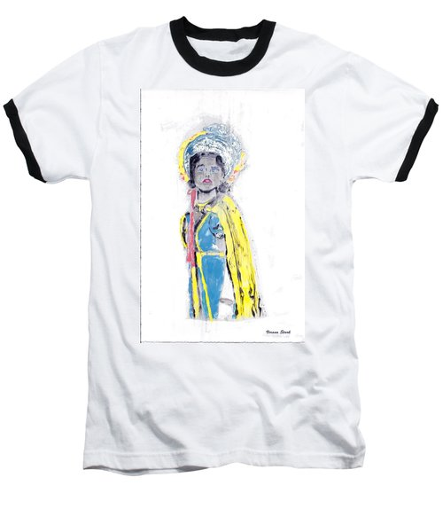 Another Time Monoprint Baseball T-Shirt