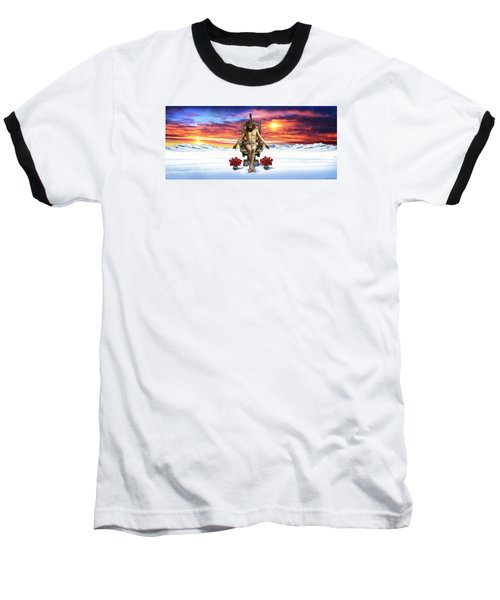 Antarctica Baseball T-Shirt by Scott Ross