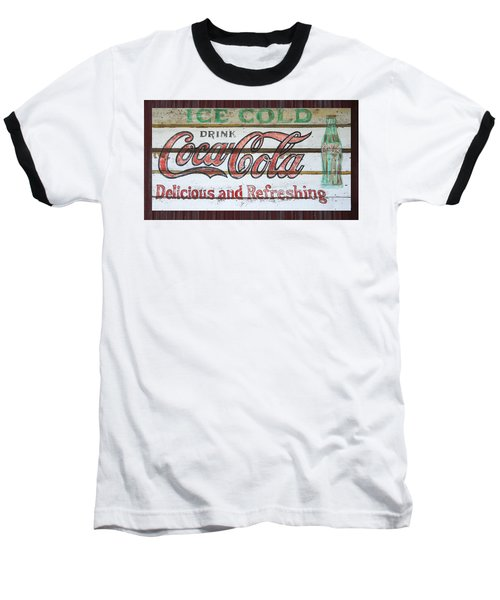 Antique Coca Cola Sign  Baseball T-Shirt