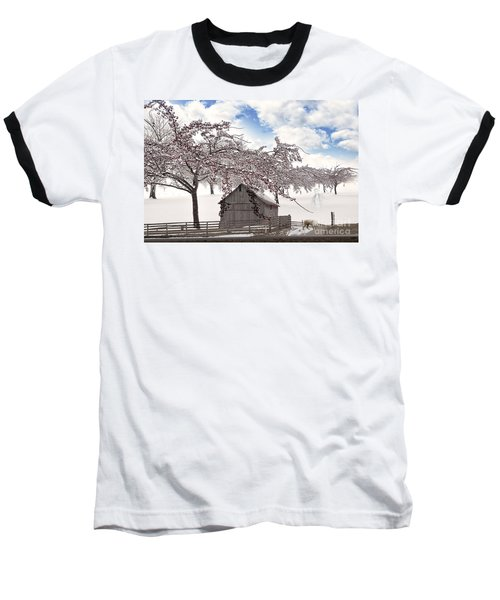 Baseball T-Shirt featuring the digital art Apparition by Liane Wright