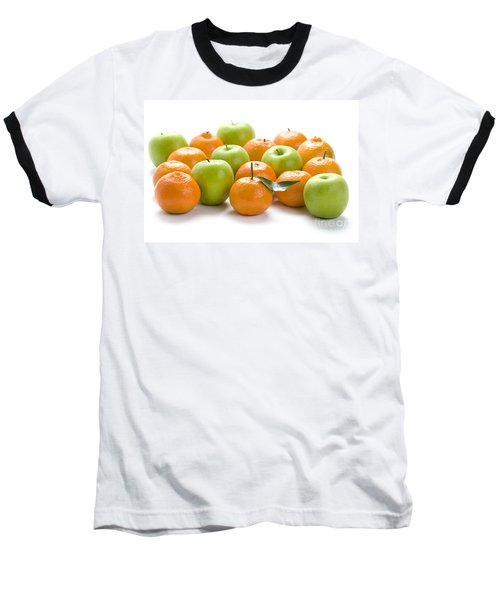 Baseball T-Shirt featuring the photograph Apples And Oranges by Lee Avison