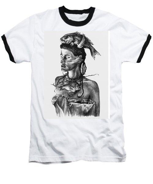 Aqua Baseball T-Shirt