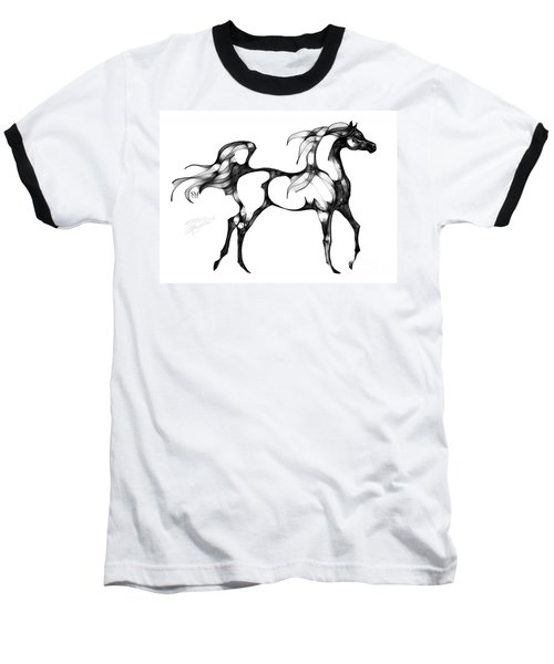Arabian Horse Overlook Baseball T-Shirt