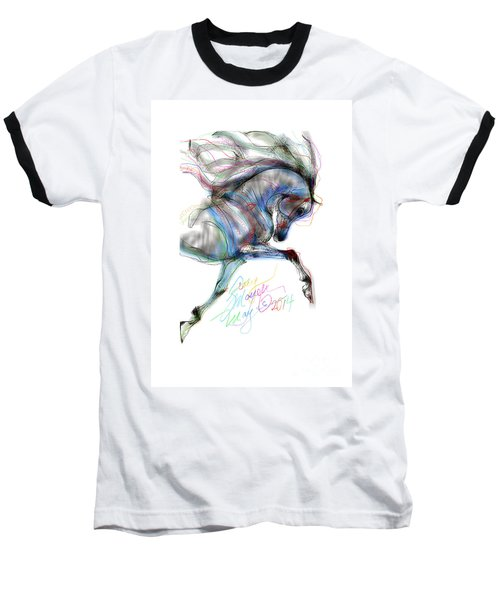 Arabian Horse Trotting In Air Baseball T-Shirt