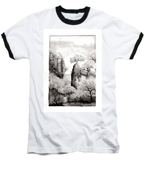 Arbres Separes Baseball T-Shirt by Marc Philippe Joly