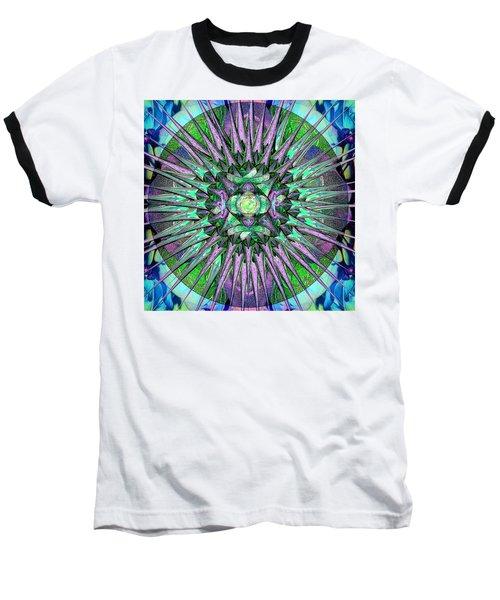 Archangels Gather Mandala Baseball T-Shirt by Michele Avanti