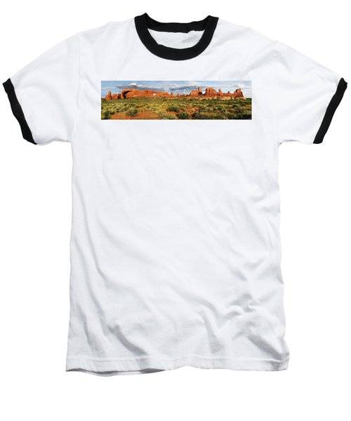 Arches National Park Panorama Baseball T-Shirt by Dave Mills