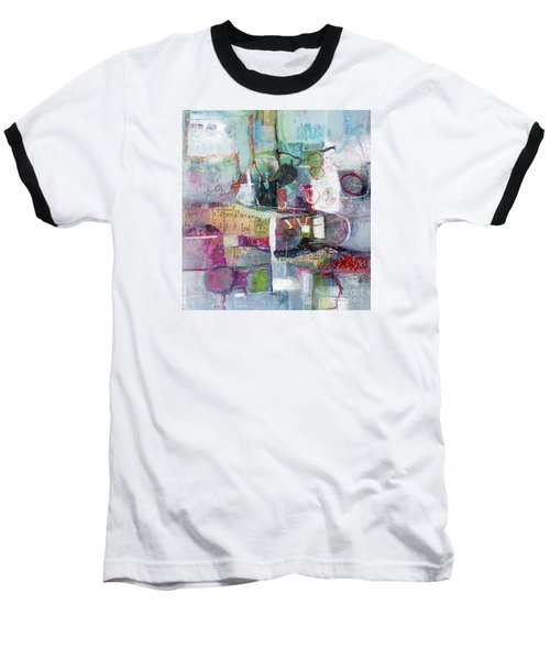 Baseball T-Shirt featuring the painting Art And Music by Michelle Abrams