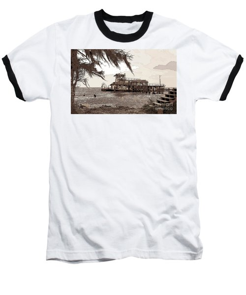 Baseball T-Shirt featuring the photograph Tugboat From Louisiana Katrina by Luana K Perez