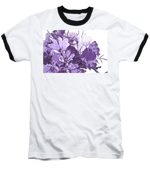 Artsy Purple Cosmos Baseball T-Shirt