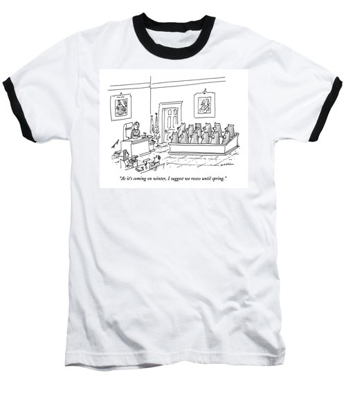 As It's Coming On Winter Baseball T-Shirt