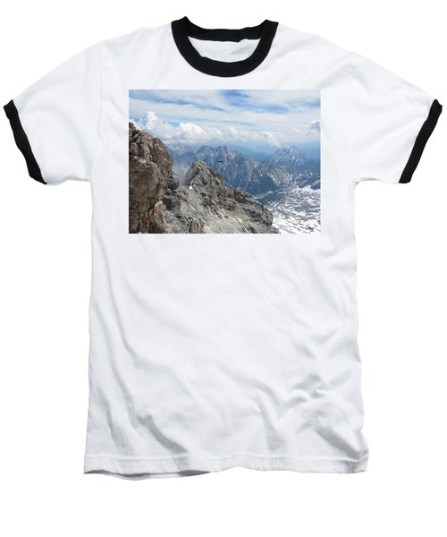 Baseball T-Shirt featuring the photograph As The Crow Flies by Pema Hou