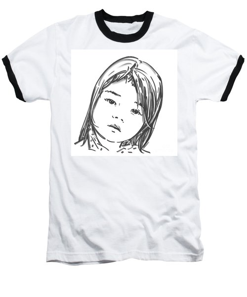 Asian Girl Baseball T-Shirt