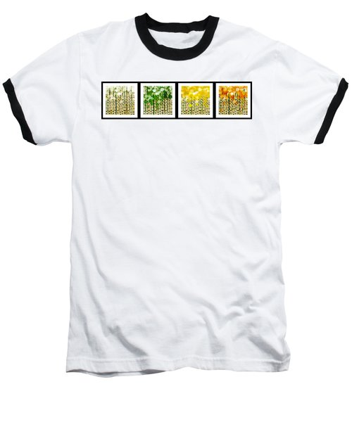 Aspen Colorado Abstract Horizontal 4 In 1 Collection Baseball T-Shirt