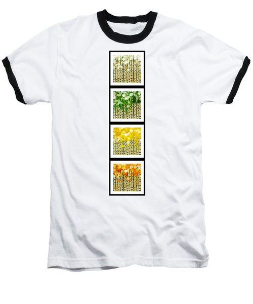 Aspen Colorado Abstract Vertical 4 In 1 Collection Baseball T-Shirt