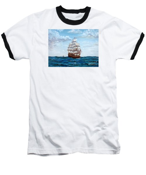 Baseball T-Shirt featuring the painting Atlantic Crossing  by Lee Piper