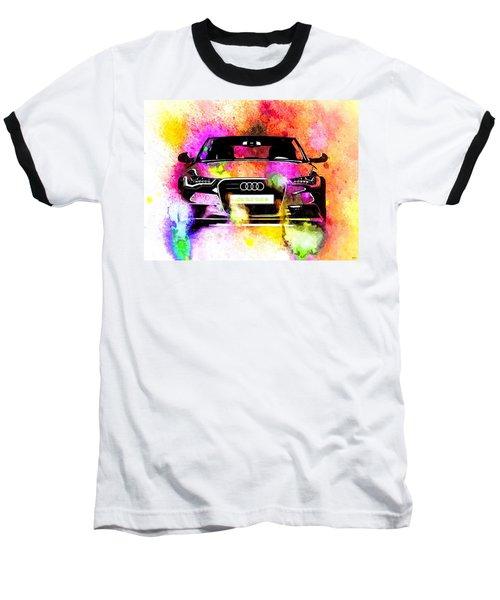 Audi A6 Avant Watercolor Baseball T-Shirt by Daniel Janda