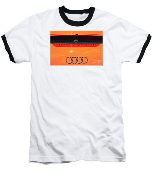 Baseball T-Shirt featuring the photograph Audi Orange by Linda Bianic