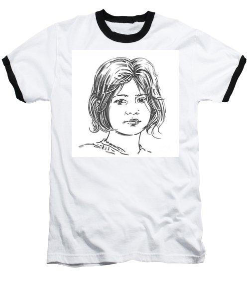 Baseball T-Shirt featuring the drawing Audrey by Olimpia - Hinamatsuri Barbu