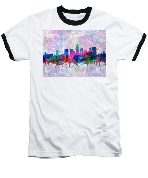 Austin Texas Skyline Watercolor 2 Baseball T-Shirt