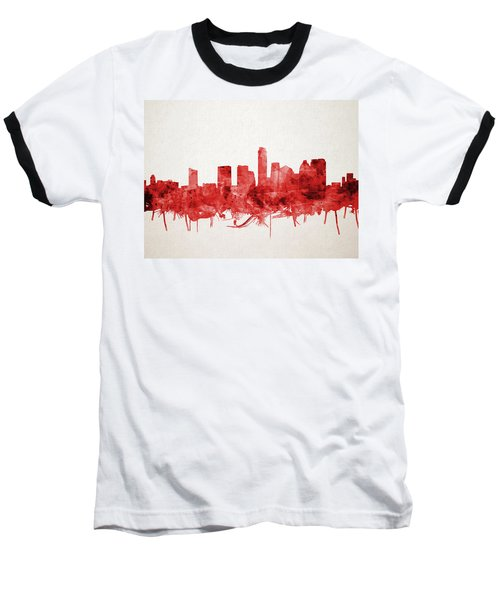 Austin Texas Skyline Watercolor 4 Baseball T-Shirt