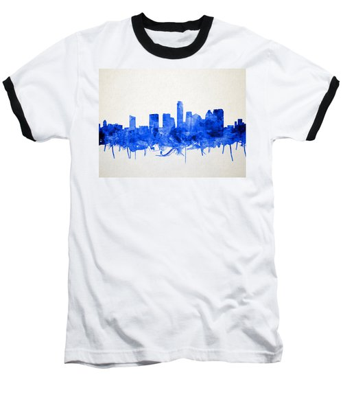 Austin Texas Skyline Watercolor 5 Baseball T-Shirt