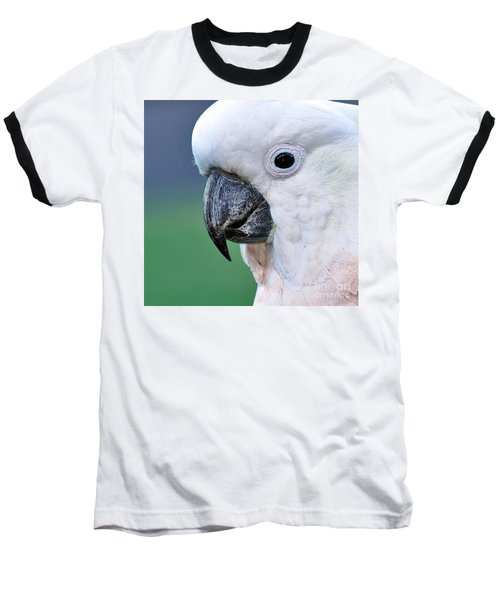 Australian Birds - Cockatoo Up Close Baseball T-Shirt