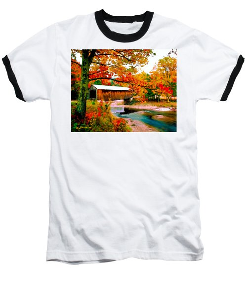 Authentic Covered Bridge Vt Baseball T-Shirt