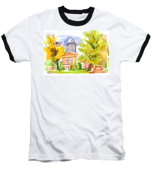 Autumn At The Courthouse Baseball T-Shirt