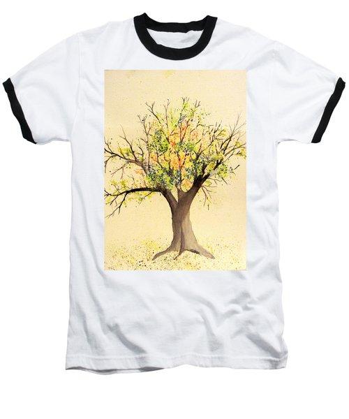 Autumn Backyard Tree Baseball T-Shirt
