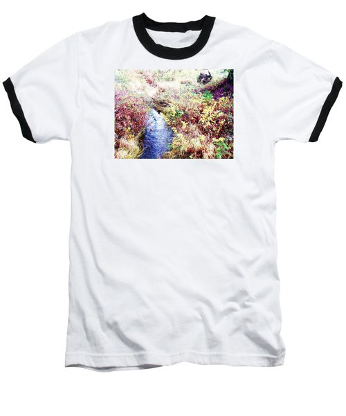 Baseball T-Shirt featuring the photograph Autumn Creek by Vanessa Palomino